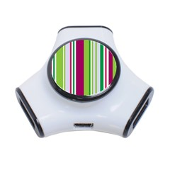 Beautiful Multi Colored Bright Stripes Pattern Wallpaper Background 3 Port Usb Hub