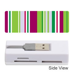 Beautiful Multi Colored Bright Stripes Pattern Wallpaper Background Memory Card Reader (stick)