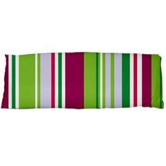 Beautiful Multi Colored Bright Stripes Pattern Wallpaper Background Body Pillow Case (Dakimakura)