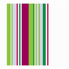 Beautiful Multi Colored Bright Stripes Pattern Wallpaper Background Small Garden Flag (two Sides)