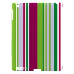 Beautiful Multi Colored Bright Stripes Pattern Wallpaper Background Apple Ipad 3/4 Hardshell Case (compatible With Smart Cover)
