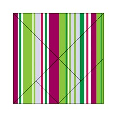 Beautiful Multi Colored Bright Stripes Pattern Wallpaper Background Acrylic Tangram Puzzle (6  X 6 )