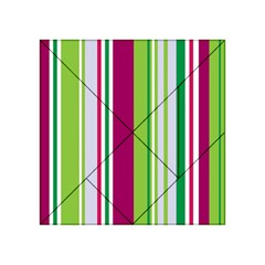 Beautiful Multi Colored Bright Stripes Pattern Wallpaper Background Acrylic Tangram Puzzle (4  X 4 )