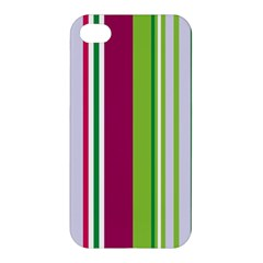 Beautiful Multi Colored Bright Stripes Pattern Wallpaper Background Apple Iphone 4/4s Premium Hardshell Case