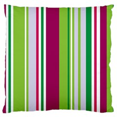 Beautiful Multi Colored Bright Stripes Pattern Wallpaper Background Large Cushion Case (one Side)