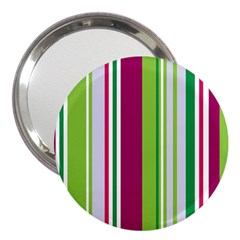 Beautiful Multi Colored Bright Stripes Pattern Wallpaper Background 3  Handbag Mirrors