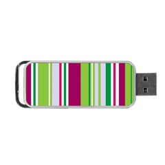 Beautiful Multi Colored Bright Stripes Pattern Wallpaper Background Portable Usb Flash (two Sides)