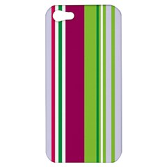 Beautiful Multi Colored Bright Stripes Pattern Wallpaper Background Apple Iphone 5 Hardshell Case