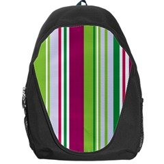 Beautiful Multi Colored Bright Stripes Pattern Wallpaper Background Backpack Bag