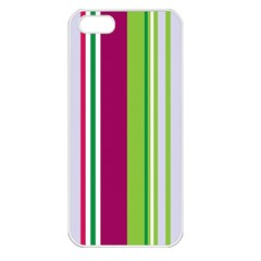 Beautiful Multi Colored Bright Stripes Pattern Wallpaper Background Apple Iphone 5 Seamless Case (white)