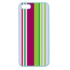 Beautiful Multi Colored Bright Stripes Pattern Wallpaper Background Apple Seamless Iphone 5 Case (color)