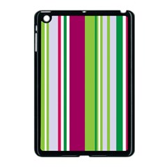 Beautiful Multi Colored Bright Stripes Pattern Wallpaper Background Apple iPad Mini Case (Black)