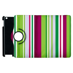 Beautiful Multi Colored Bright Stripes Pattern Wallpaper Background Apple Ipad 3/4 Flip 360 Case