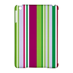 Beautiful Multi Colored Bright Stripes Pattern Wallpaper Background Apple iPad Mini Hardshell Case (Compatible with Smart Cover)