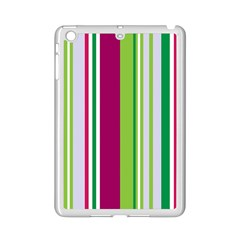 Beautiful Multi Colored Bright Stripes Pattern Wallpaper Background Ipad Mini 2 Enamel Coated Cases