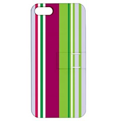 Beautiful Multi Colored Bright Stripes Pattern Wallpaper Background Apple iPhone 5 Hardshell Case with Stand