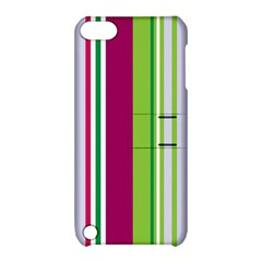 Beautiful Multi Colored Bright Stripes Pattern Wallpaper Background Apple Ipod Touch 5 Hardshell Case With Stand