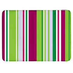 Beautiful Multi Colored Bright Stripes Pattern Wallpaper Background Samsung Galaxy Tab 7  P1000 Flip Case