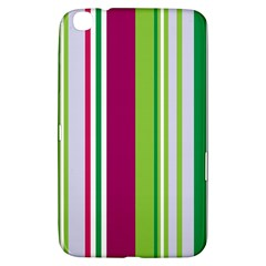 Beautiful Multi Colored Bright Stripes Pattern Wallpaper Background Samsung Galaxy Tab 3 (8 ) T3100 Hardshell Case