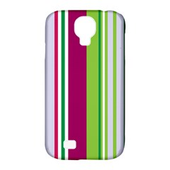 Beautiful Multi Colored Bright Stripes Pattern Wallpaper Background Samsung Galaxy S4 Classic Hardshell Case (pc+silicone)