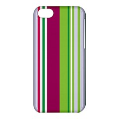 Beautiful Multi Colored Bright Stripes Pattern Wallpaper Background Apple Iphone 5c Hardshell Case