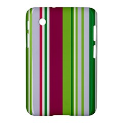 Beautiful Multi Colored Bright Stripes Pattern Wallpaper Background Samsung Galaxy Tab 2 (7 ) P3100 Hardshell Case