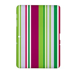 Beautiful Multi Colored Bright Stripes Pattern Wallpaper Background Samsung Galaxy Tab 2 (10 1 ) P5100 Hardshell Case