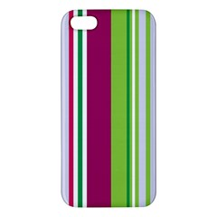 Beautiful Multi Colored Bright Stripes Pattern Wallpaper Background Iphone 5s/ Se Premium Hardshell Case