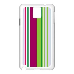 Beautiful Multi Colored Bright Stripes Pattern Wallpaper Background Samsung Galaxy Note 3 N9005 Case (white)