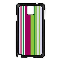 Beautiful Multi Colored Bright Stripes Pattern Wallpaper Background Samsung Galaxy Note 3 N9005 Case (Black)