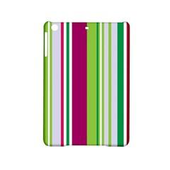 Beautiful Multi Colored Bright Stripes Pattern Wallpaper Background Ipad Mini 2 Hardshell Cases