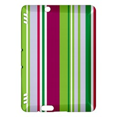 Beautiful Multi Colored Bright Stripes Pattern Wallpaper Background Kindle Fire Hdx Hardshell Case