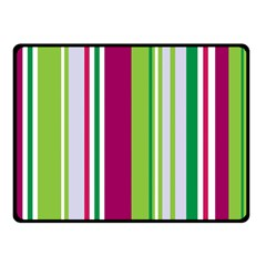 Beautiful Multi Colored Bright Stripes Pattern Wallpaper Background Double Sided Fleece Blanket (small)