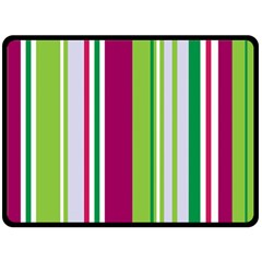 Beautiful Multi Colored Bright Stripes Pattern Wallpaper Background Double Sided Fleece Blanket (large)
