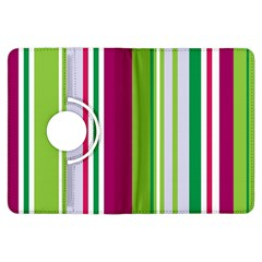 Beautiful Multi Colored Bright Stripes Pattern Wallpaper Background Kindle Fire HDX Flip 360 Case