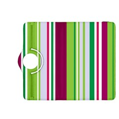 Beautiful Multi Colored Bright Stripes Pattern Wallpaper Background Kindle Fire HDX 8.9  Flip 360 Case