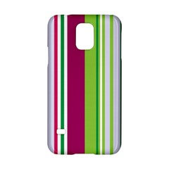Beautiful Multi Colored Bright Stripes Pattern Wallpaper Background Samsung Galaxy S5 Hardshell Case