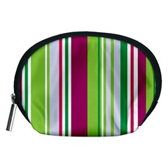 Beautiful Multi Colored Bright Stripes Pattern Wallpaper Background Accessory Pouches (medium)