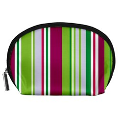 Beautiful Multi Colored Bright Stripes Pattern Wallpaper Background Accessory Pouches (large)