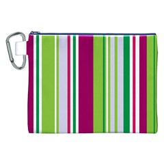 Beautiful Multi Colored Bright Stripes Pattern Wallpaper Background Canvas Cosmetic Bag (xxl)