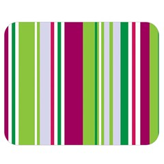 Beautiful Multi Colored Bright Stripes Pattern Wallpaper Background Double Sided Flano Blanket (medium)
