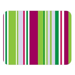 Beautiful Multi Colored Bright Stripes Pattern Wallpaper Background Double Sided Flano Blanket (large)