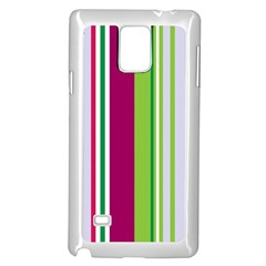 Beautiful Multi Colored Bright Stripes Pattern Wallpaper Background Samsung Galaxy Note 4 Case (white)