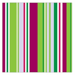 Beautiful Multi Colored Bright Stripes Pattern Wallpaper Background Large Satin Scarf (square)