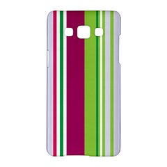 Beautiful Multi Colored Bright Stripes Pattern Wallpaper Background Samsung Galaxy A5 Hardshell Case