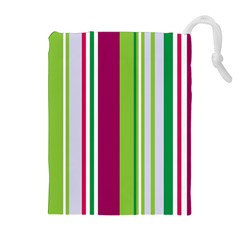 Beautiful Multi Colored Bright Stripes Pattern Wallpaper Background Drawstring Pouches (extra Large)