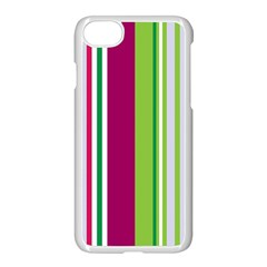 Beautiful Multi Colored Bright Stripes Pattern Wallpaper Background Apple Iphone 7 Seamless Case (white)