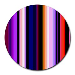 Fun Striped Background Design Pattern Round Mousepads