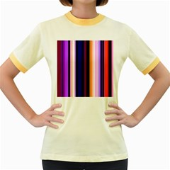 Fun Striped Background Design Pattern Women s Fitted Ringer T Shirts
