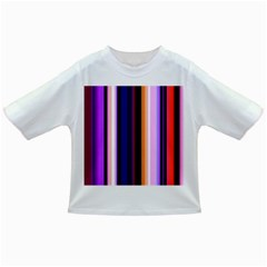 Fun Striped Background Design Pattern Infant/Toddler T-Shirts